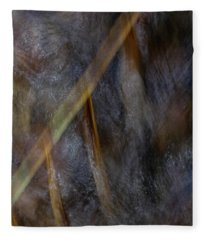 Reeds Under Water Fleece Blanket