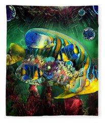 Reef Fish Fantasy Art Fleece Blanket