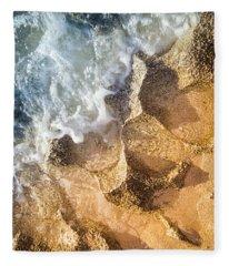 Reefy Textures Fleece Blanket