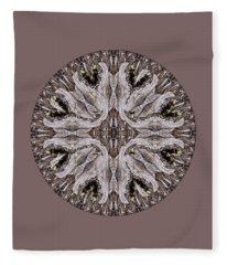 Reflected Alien Priests Kaliedoscope Fleece Blanket