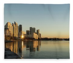 Reflected Sunrise - Marina Del Rey Waterfront Living In Toronto Fleece Blanket