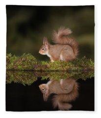 Reflecting On What To Eat Fleece Blanket