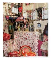 Reflecting On Window Shopping 01 Fleece Blanket