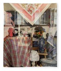 Reflecting On Window Shopping 02 Fleece Blanket