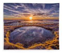 Reflecting Pool Fleece Blanket