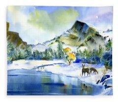 Reflecting Yosemite Fleece Blanket