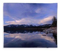 Reflection In Winter Fleece Blanket