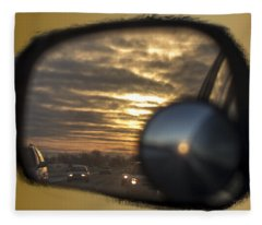 Reflection Of A Sunset Fleece Blanket