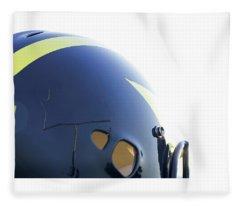 Reflection Of Goal Post In Wolverine Helmet Fleece Blanket