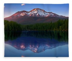 Reflection On California's Lake Siskiyou Fleece Blanket