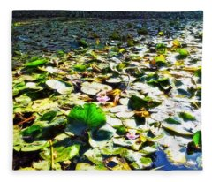Reflections Across The Lily Pond Fleece Blanket