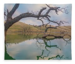 Reflections At Los Vaqueros Fleece Blanket