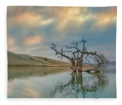 Reflections At Sunrise Fleece Blanket