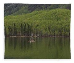 Reflections In The Lake Fleece Blanket