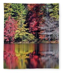 Reflections Of A Bare Tree Fleece Blanket
