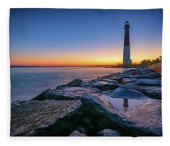 Reflections Of Barnegat Light Fleece Blanket