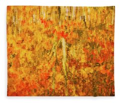 Fleece Blanket featuring the photograph Reflections Of Fall by Rick Furmanek