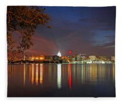 Reflections Of Madison Fleece Blanket