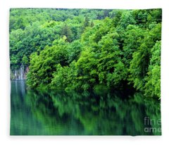 Reflections Of Plitvice, Plitvice Lakes National Park, Croatia Fleece Blanket