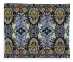 Reflections Of Samurai Fleece Blanket