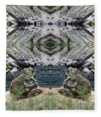 Reflections Of Self Before Entering The Vortex Fleece Blanket