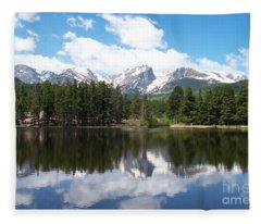 Reflections Of Sprague Lake Fleece Blanket