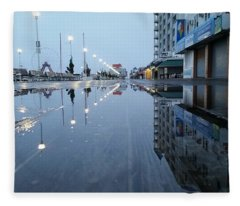 Reflections Of The Boardwalk Fleece Blanket