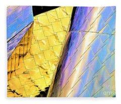 Reflections On Peter B. Lewis Building, Cleveland2 Fleece Blanket