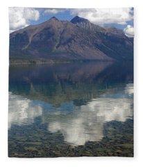Reflections On The Lake Fleece Blanket