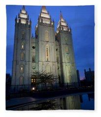 Reflective Temple Fleece Blanket