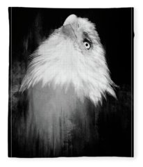 Regal Eagle In Noir Fleece Blanket