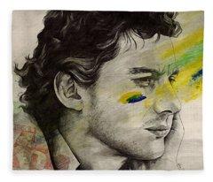 Rei Do Brasil - Tribute To Ayrton Senna Da Silva Fleece Blanket