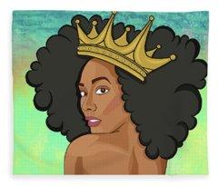 Reigning Queen Fleece Blanket