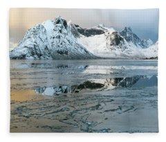 Reine, Lofoten 5 Fleece Blanket