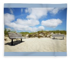 Relax At The Beach Fleece Blanket