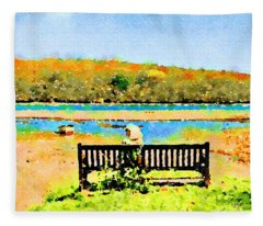 Relax Down By The River Fleece Blanket