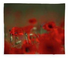 Remembering Poppies Fleece Blanket