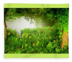 Remembering Springtime Fleece Blanket