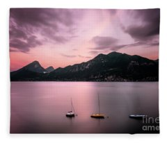 Reminiscence Is A Red Sky Fleece Blanket