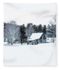 Remote Cabin In Winter Fleece Blanket