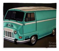 Renault Estafette 1959 Painting Fleece Blanket