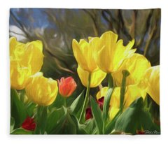 Renewal First Day Of Spring Fleece Blanket