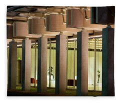 Renzo Piano Building Kimball Museum Fleece Blanket
