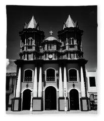 Replica Church In El Penol Fleece Blanket