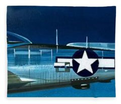 Republic P-47n Thunderbolt Fleece Blanket