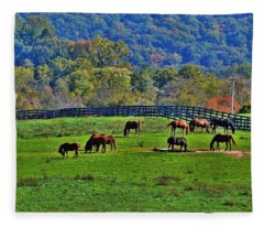 Rescue Horses Fleece Blanket