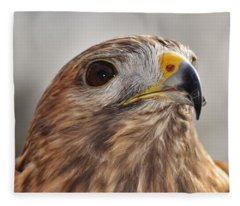 Rescued Hawk Fleece Blanket