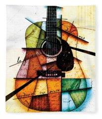 Spanish Guitars Fleece Blankets