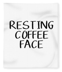 Resting Coffee Face-art By Linda Woods Fleece Blanket