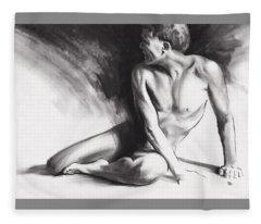 Resting Iv Fleece Blanket